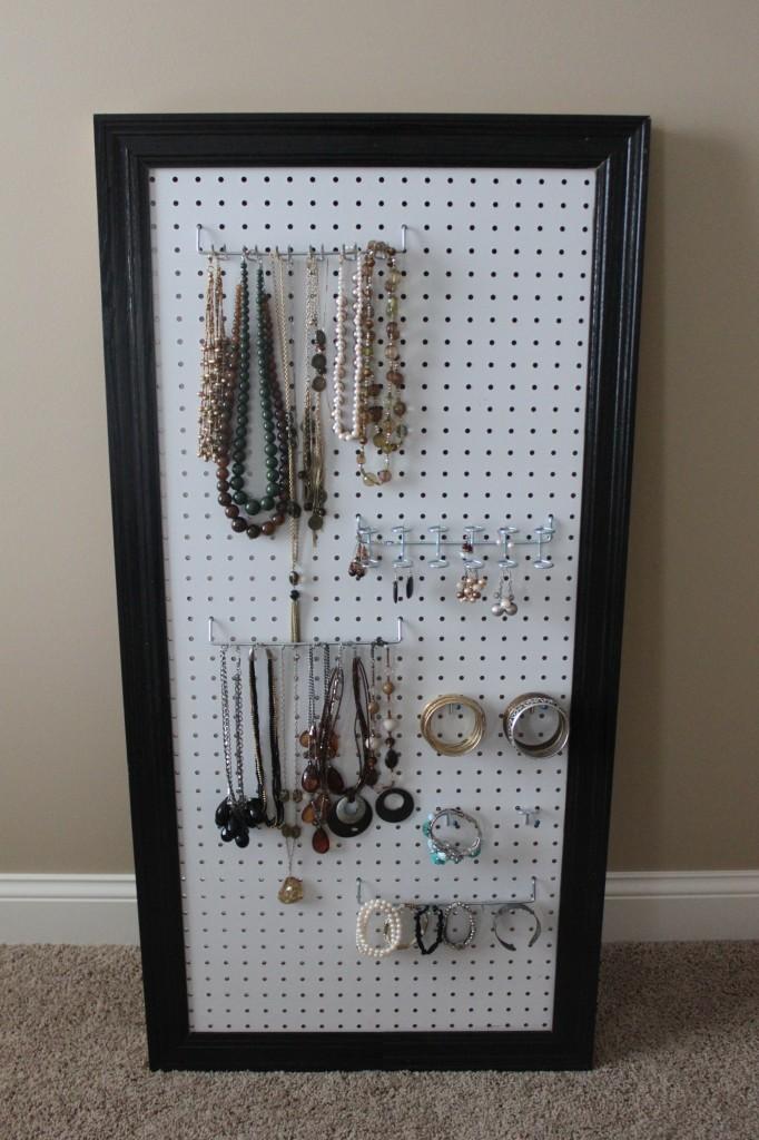 pegboard jewelry organization