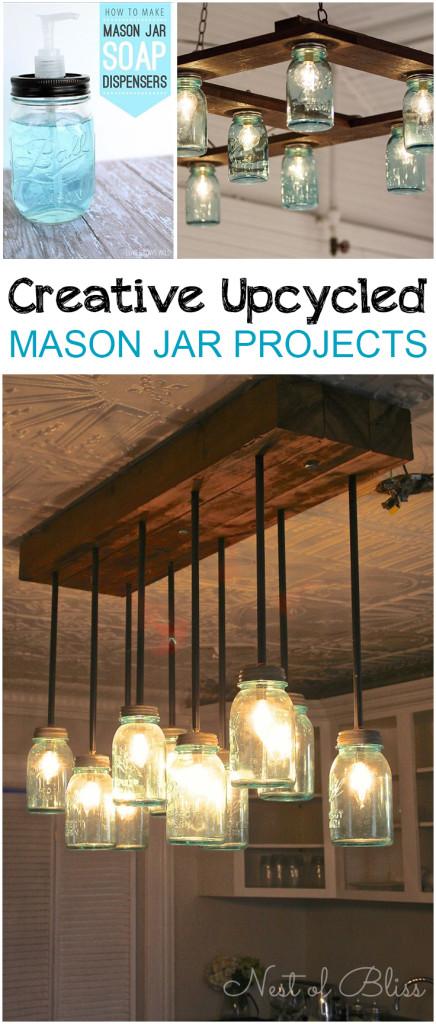 Creative Upcycled Mason Jar Projects