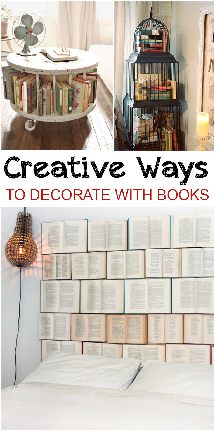 Ways To Decorate Your Living Room For Cheap: Creative Ways To Decorate With Books