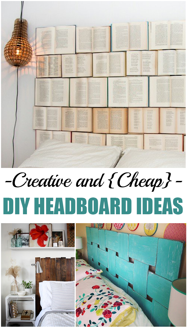 Creative and cheap diy headboard ideas picky stitch Homemade headboard ideas cheap
