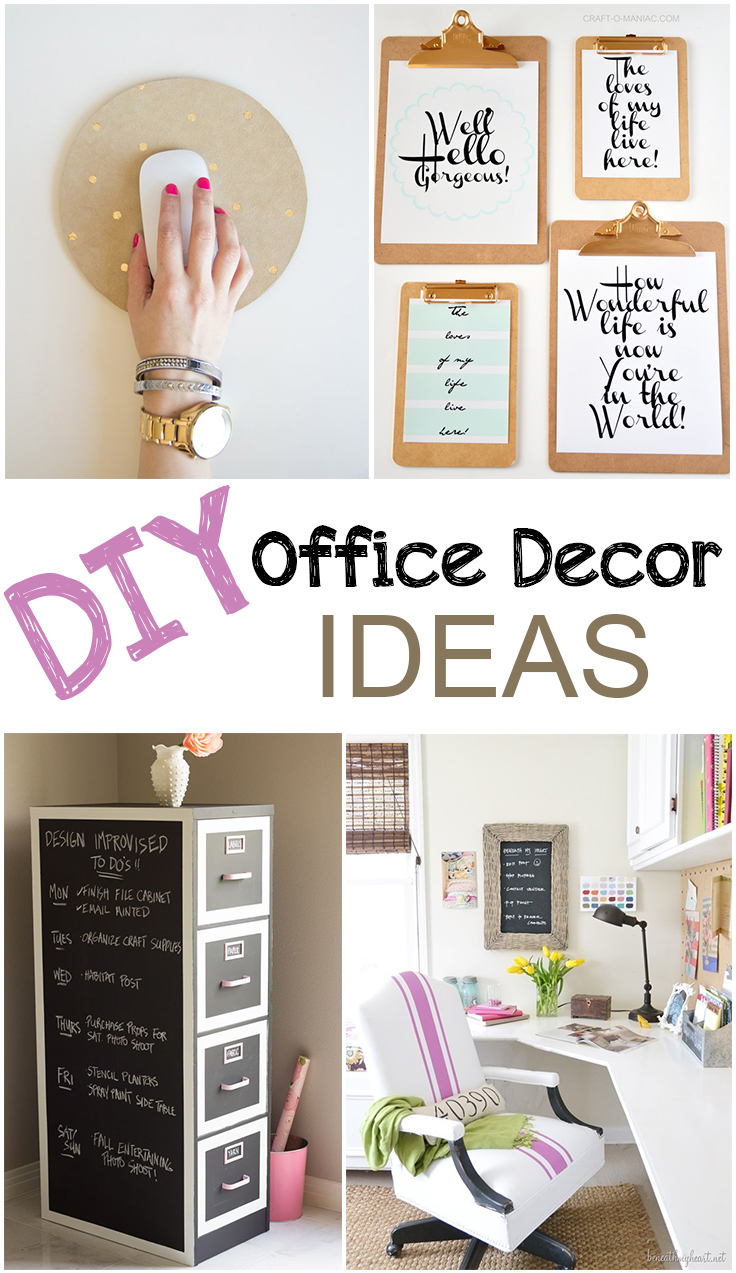 25 popular diy desk decor ideas for Cheap office decorating ideas