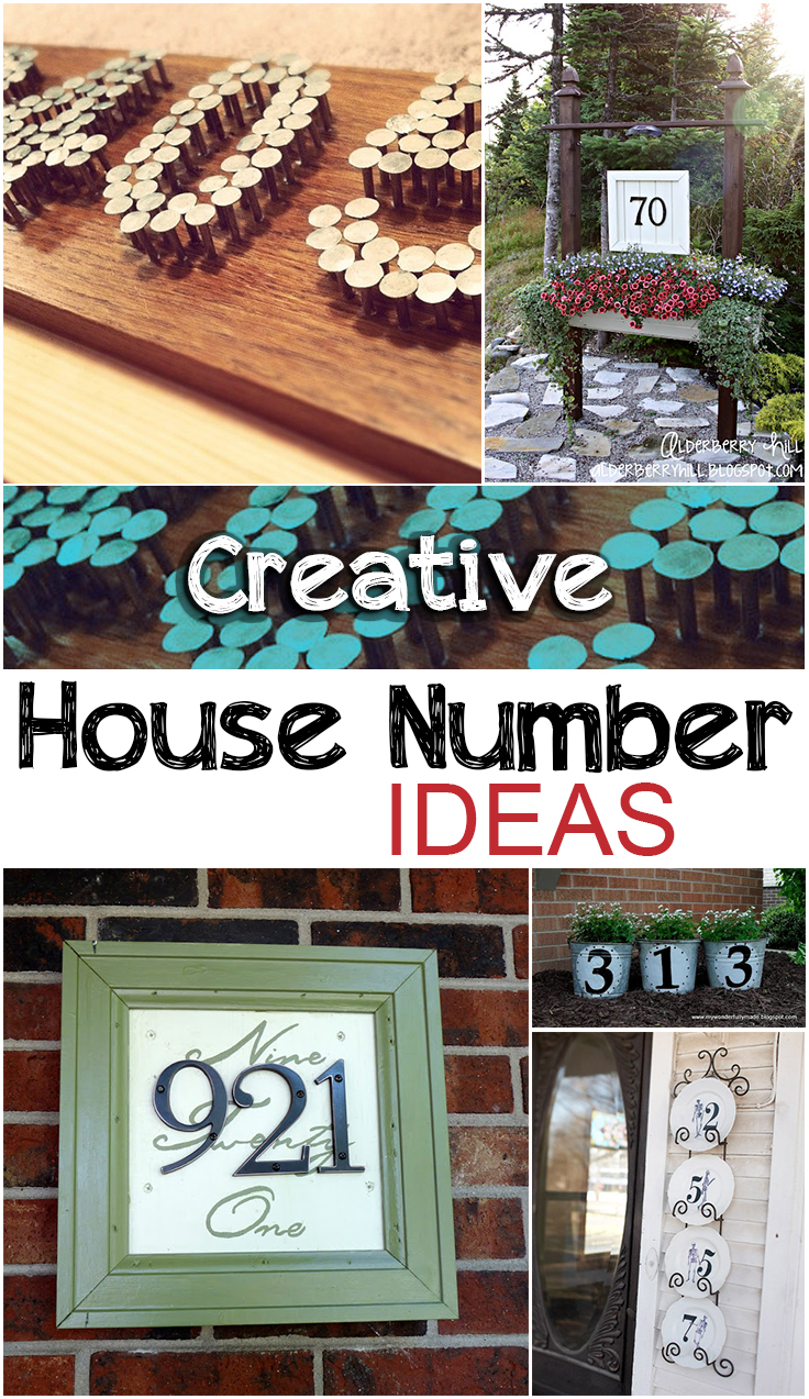 Creative house number ideas page 7 of 11 picky stitch for House number frames