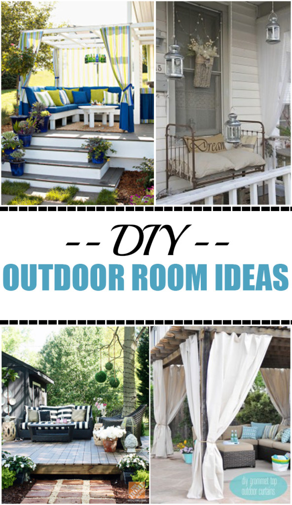 Diy outdoor rooms on a budget picky stitch for Diy garden room