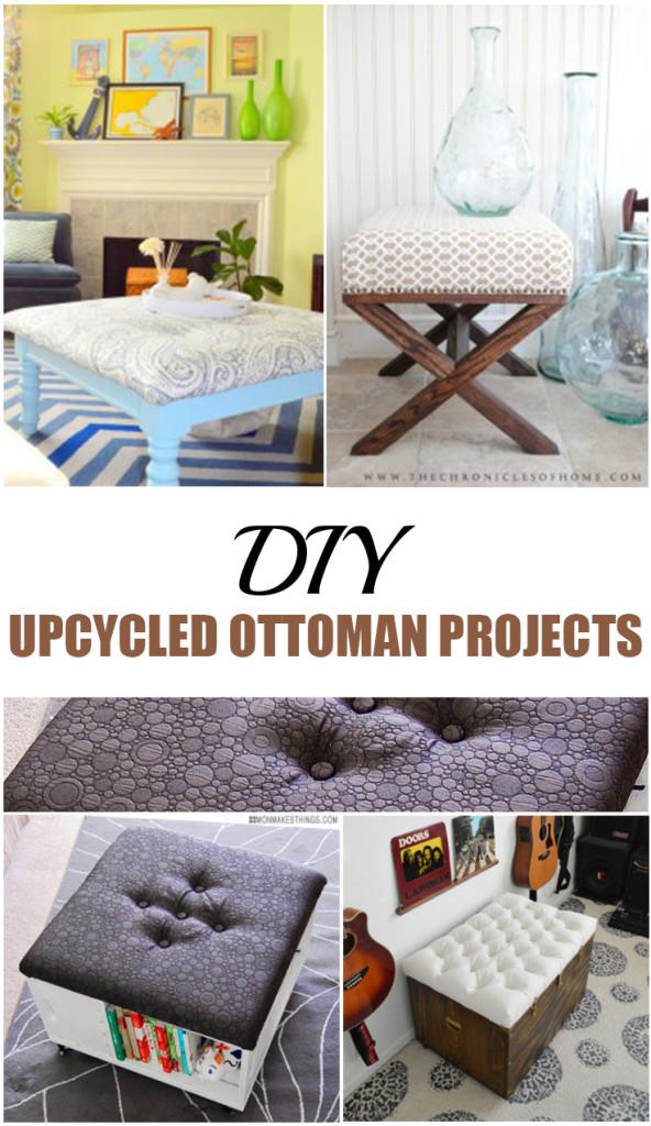 DIY Upcycled Ottoman Projects