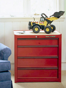 use a toolbox for toy storage ideas