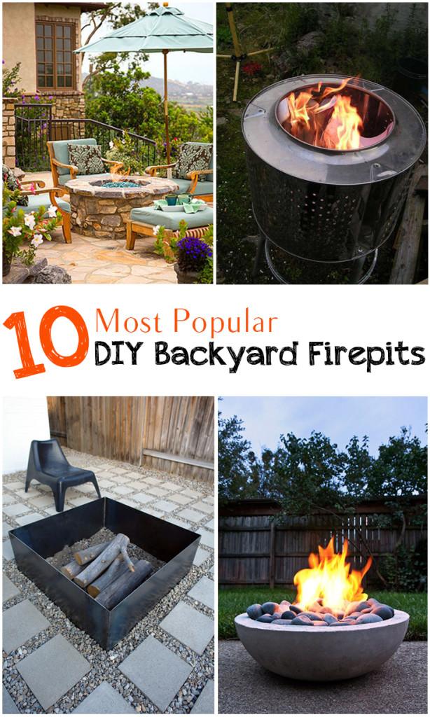 10 Most Popular DIY Backyard Firepits