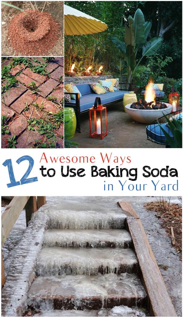 Baking soda garden hacks, baking soda hacks, popular pin, gardening, gardening hacks, baking soda, uses for baking soda, outdoor living, outdoor hacks.