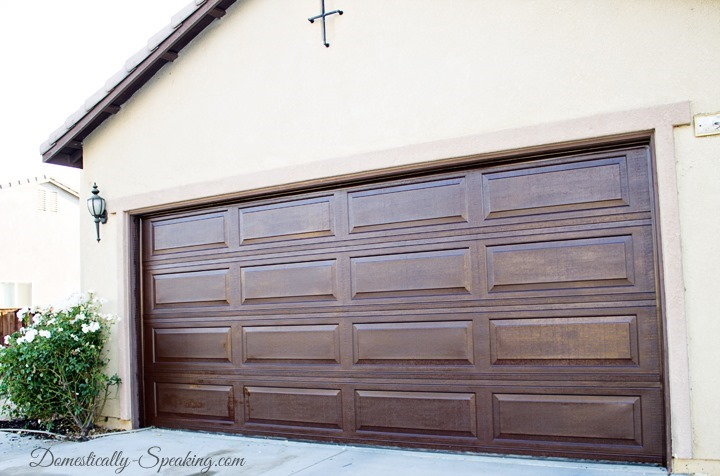 10 garage makeover projects page 5 of 11 picky stitch for Stained garage doors