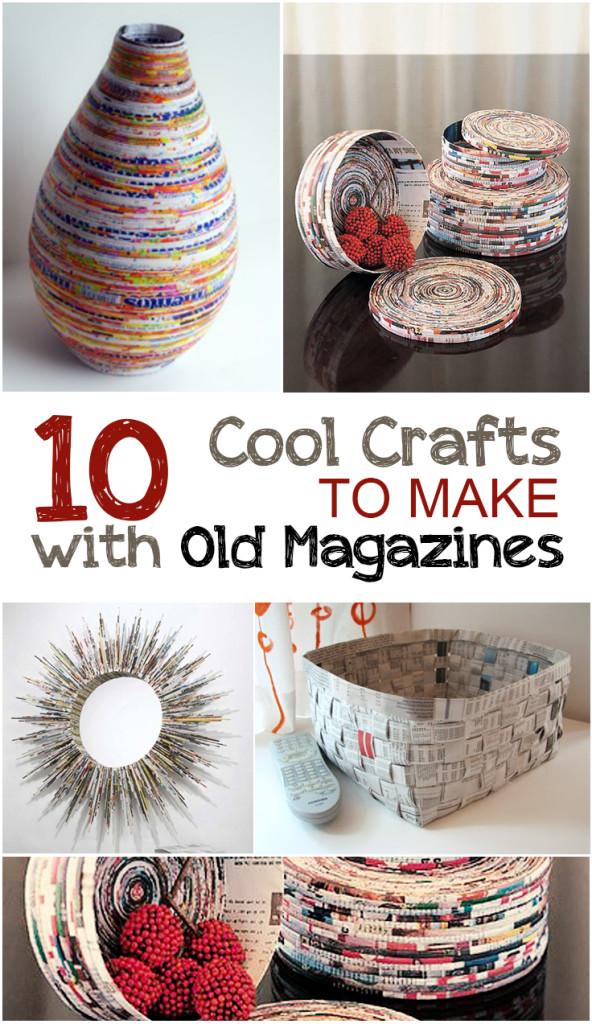 Creative Crafts to Make with Old Magazines  #Crafts, #MagazineCrafts, #MagazineCraftProjects, #EasyCrafts #DIYCrafts #DIYHomeDecor
