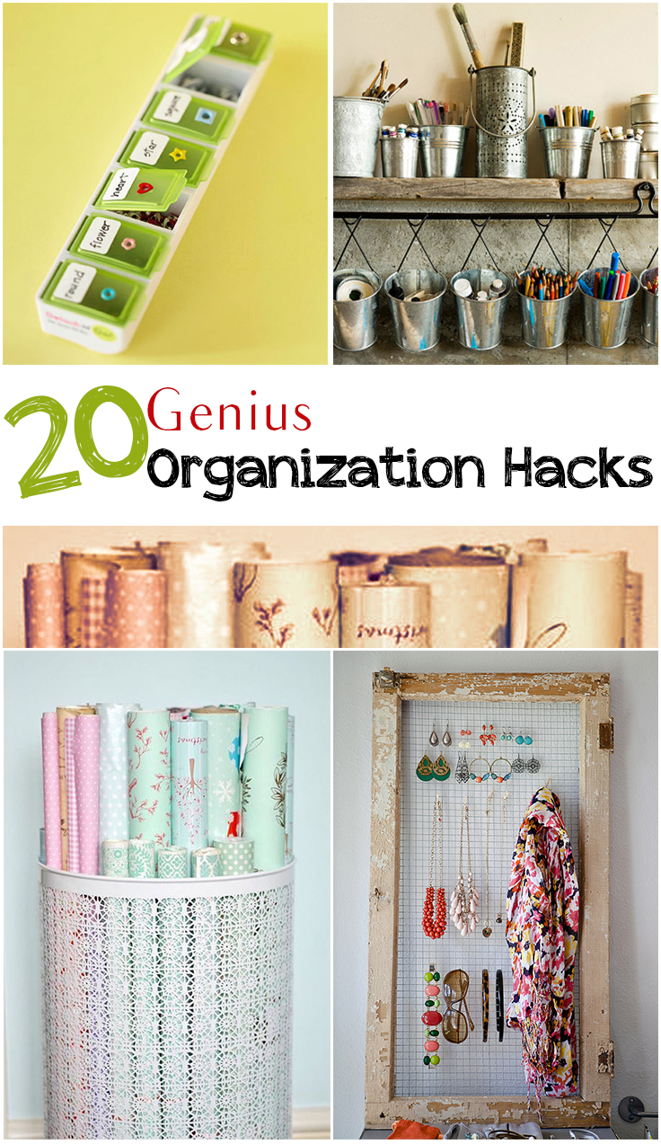 Best Home Organization Hacks for Every Single Room in Your House. It's time to de-clutter and learn how to best utilize every spare inch of space.