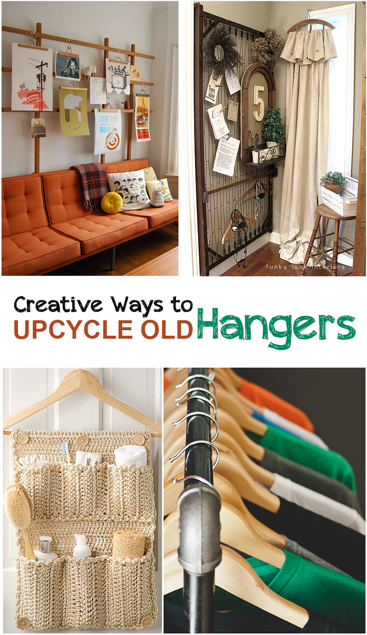 Unique Ways To Decorate Living Room: Great Ways To Use Old Hangers