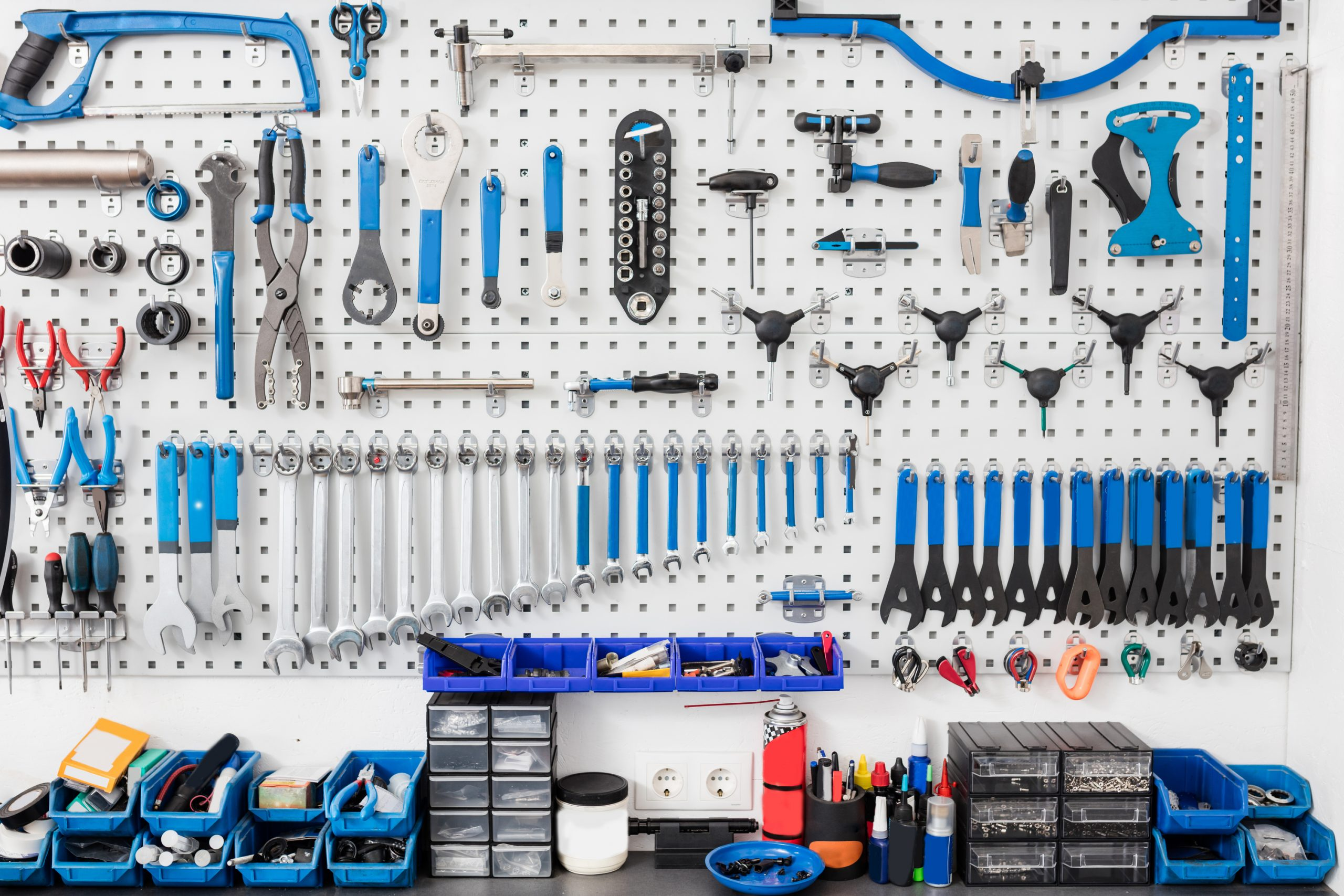 Garage makeovers don't have to be huge. This pegboard wall puts tool and such in sight and reach while keeping everything organized.