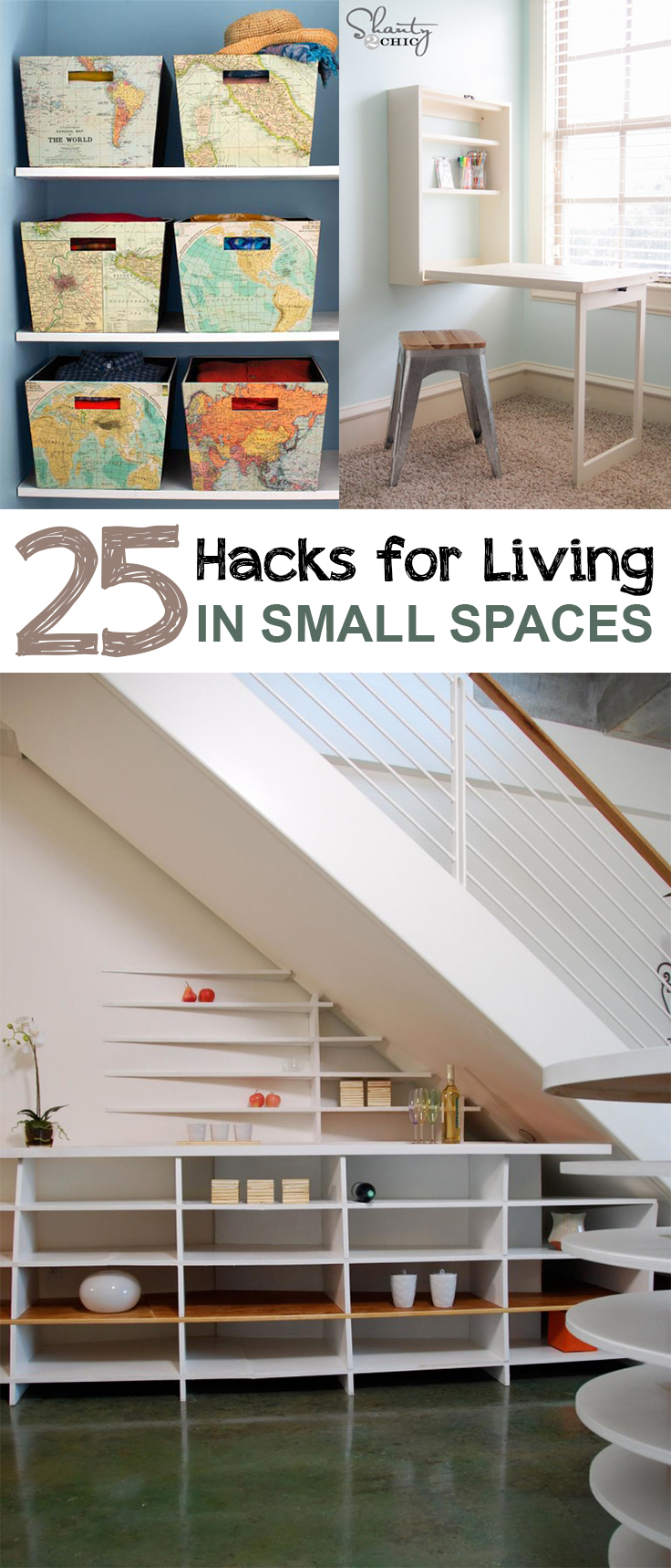 25 hacks for living in small spaces page 19 of 26 picky stitch. Black Bedroom Furniture Sets. Home Design Ideas