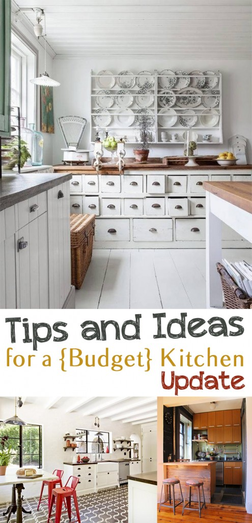 Budget tips and ideas for a kitchen update picky stitch for Update my kitchen on a budget