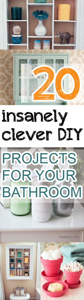 20 insanely clever diy projects for your bathroom page 7 for Clever diy projects