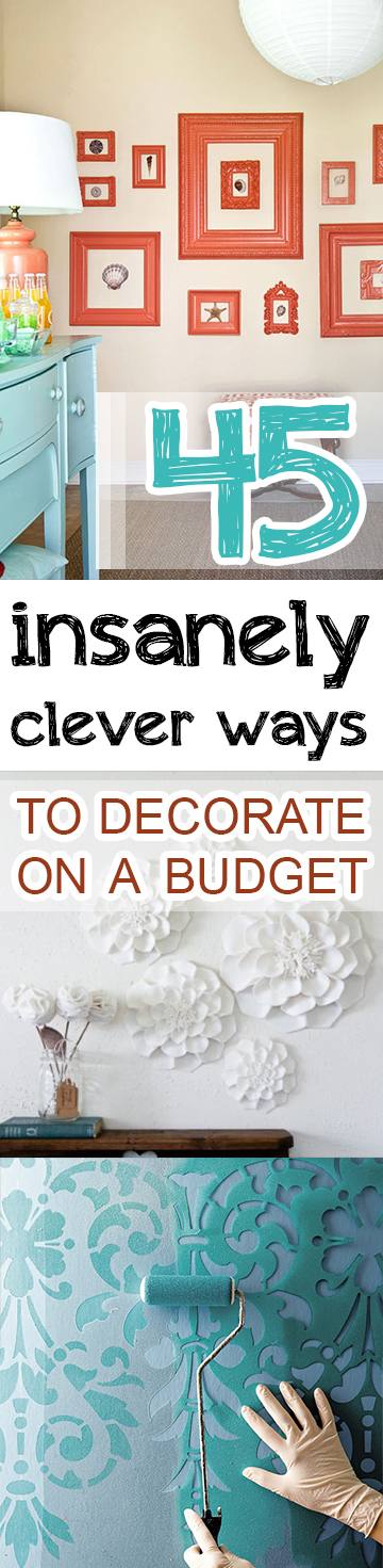 45 insanely clever ways to decorate on a budget page 9 of 10 picky stitch - Insanely easy clever diy projects home ...