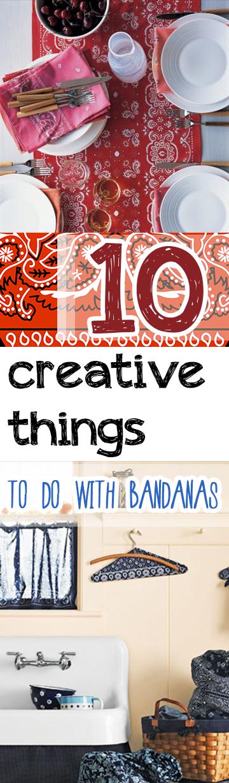 Bandanas, things to do with bandanas, popular pin, DIY home decor, home decor, DIY, DIY crafts, summer craft ideas.