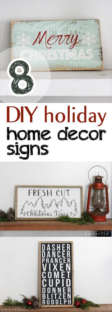 8 Diy Holiday Home Decor Signs Picky Stitch