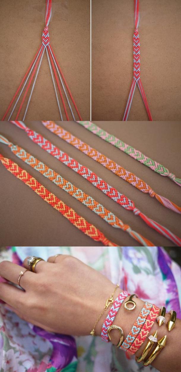 12 Super Simple Homemade Bracelet Tutorials