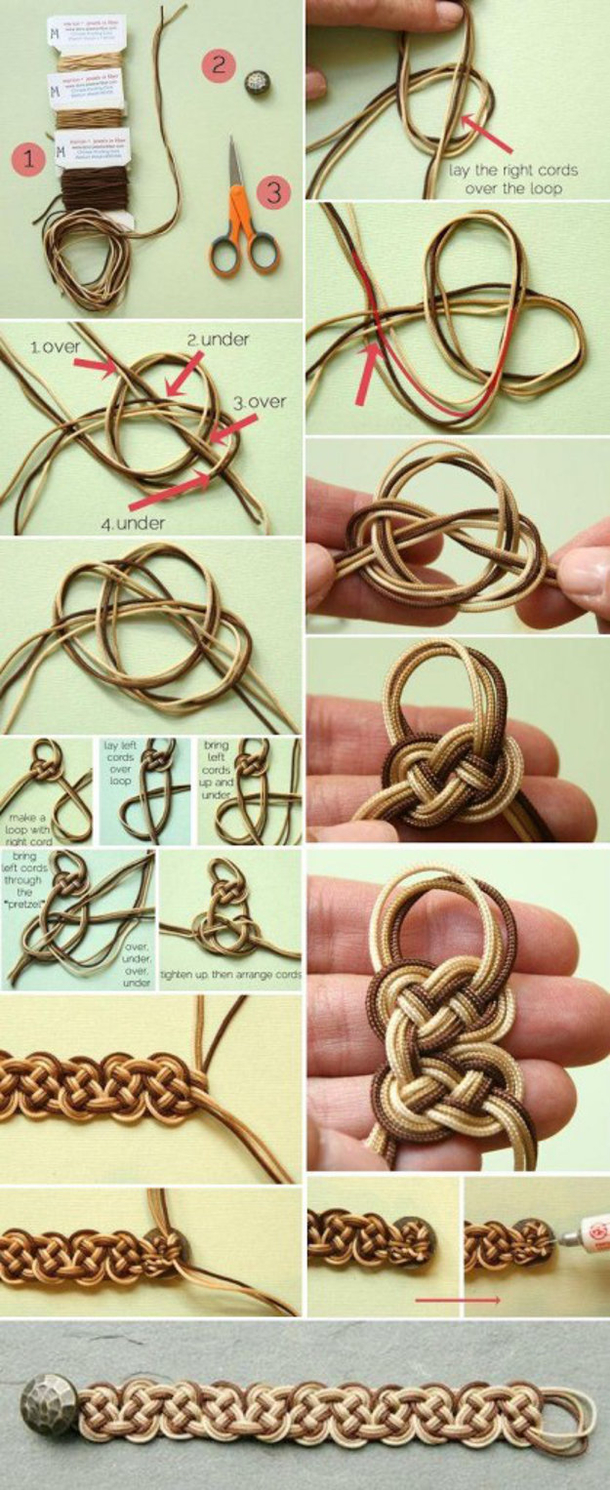 12 Super Simple Homemade Bracelet Tutorials4