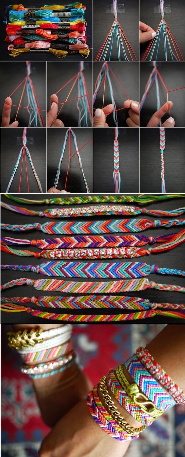 12 Super Simple Homemade Bracelet Tutorials6