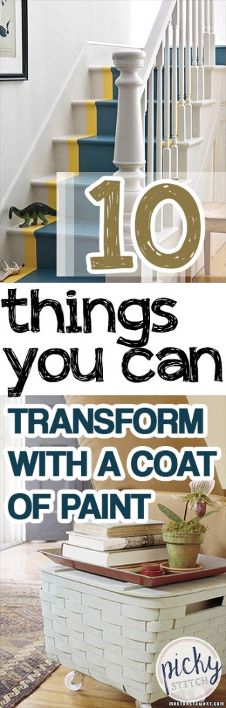 10 Things You Can Transform With a Coat of Paint - Paint Projects, Painted Furniture Projects, How to Paint Furniture, How to Paint Furniture, Fast Furniture Upgrades, How to Remodel Your Furniture, Fast DIY Projects, Easy DIY Projects, Popular Pin