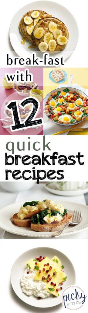 Break-Fast With 12 Quick Breakfast Recipes - Breakfast, Breakfast Recipes, Yummy Recipes, Recipe Ideas, Breakfast Eats, Delicious Desserts, Food, Food Recipes, Quick Recipes