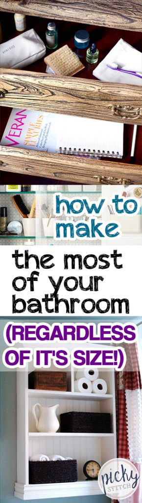 How to Make The Most of Your Bathroom (Regardless of It's Size!) - Bathroom, How to Make the Most of Your Bathroom, Bathroom Tips and Tricks, Bathroom Organization Tips, How to Organize Your Bathroom, Home Organization, Home Organization Tips and Tricks