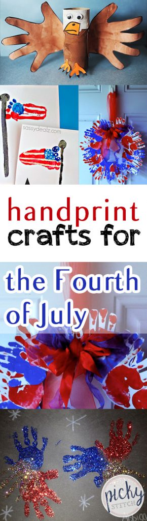 Handprint Crafts for the Fourth of July| Fourth of July Crafts, Fourth of July Craft Projects, Kids Crafts, Crafts for Kids, Holiday Crafts for Kids, Fun Crafts for Kids, Kid Stuff, Popular Pin