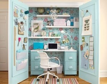 How to Make a Closet Office  Closet Office, Closet Office Projects, Office Project, DIY Home Office, Home Office Projects, DIY Home Office Projects. Popular Projects.