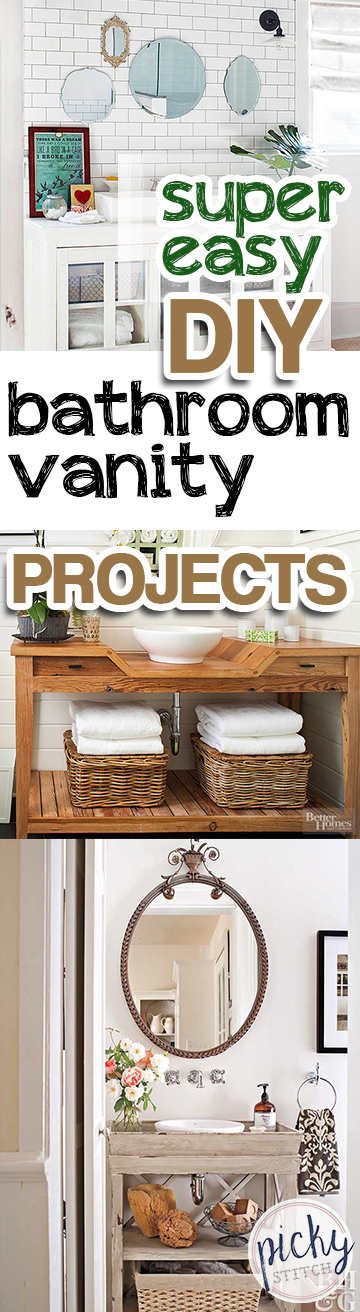 Super Easy Diy Bathroom Vanity Projects Picky Stitch