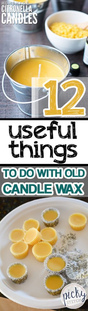 12 Useful Things to Do With Old Candle Wax| Uses for Candlewax, Candlewax Uses, Crafts, Craft Projects, DIY Craft Projects, Home Crafts, Crafts for the Home, Repurpose Projects, DIY Repurpose Projects, Popular Pin #Crafts #DIYRepurpose