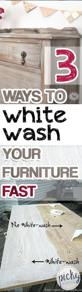 3 Ways to White-Wash Your Furniture FAST| White Wash Your Furniture, Paint Your Furniture, How to Paint Your Furniture, Popular Pin #WhiteWash #PaintYourFurniture