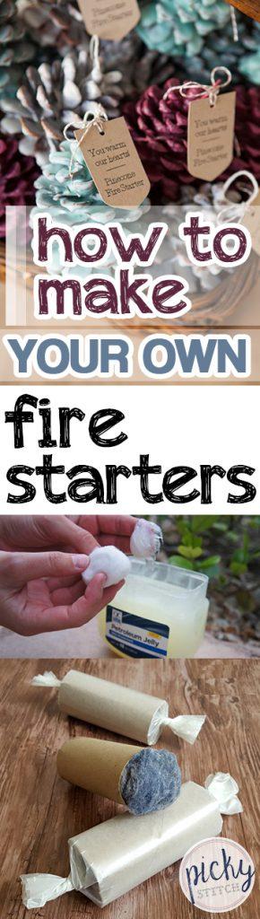 How to Make Your Own Fire Starters  Firestarters, DIY Firestarters, Make Your Own Firestarters, DIY Home, Camping Hacks, DIY Camping Hacks, Popular Pin #DIYHome #DIYFirestarters