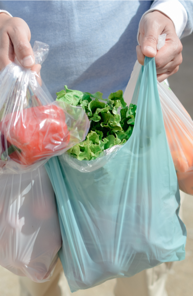 It can be tricky finding ways to store plastic bags. Try keeping all of your unused plastic bags in a metal basket.