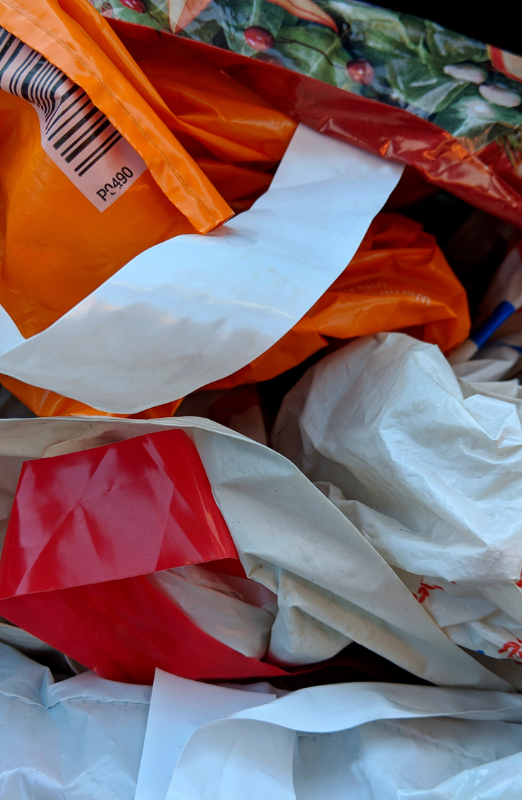 It can be tricky finding ways to store plastic bags. Tissue boxes are an excellent way to to store bags and they are easily accessible.