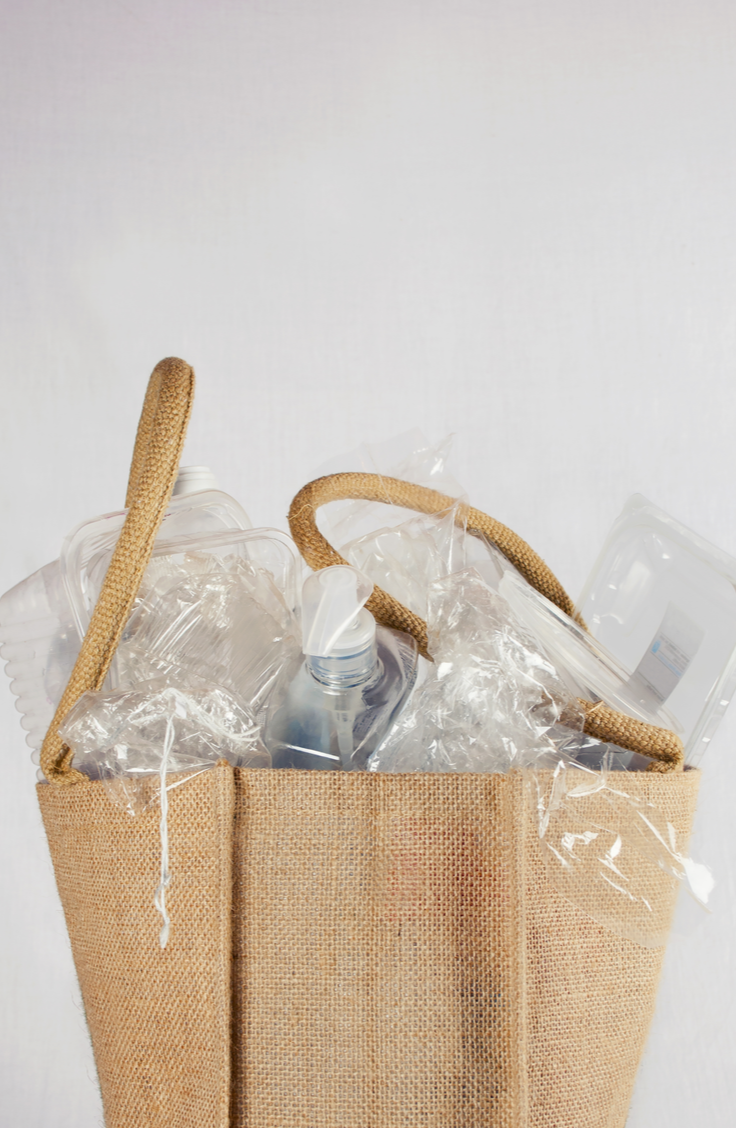 It can be tricky finding ways to store plastic bags. Try using a tote to keep them all in the same place!