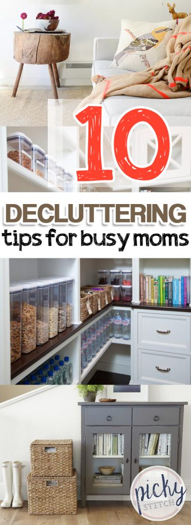 10 Decluttering Tips for Busy Moms| DIY Ideas, Decluttering Ideas, Decluttering Home, Declutter and Organize, Declutter, Organization Ideas for the Home, Home Organization Ideas