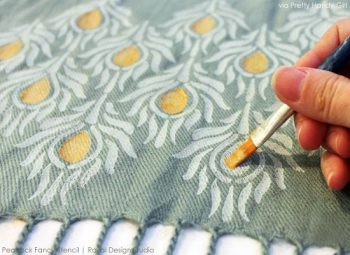 How to Paint Your Fabric| Paint Fabric, Paint Fabric Chair, EAsily Paint Fabric, Paint Fabric Furniture, Painting Fabric, Painting Fabric With Chalk Paint, DIY Crafts, DIY Home Decor #DIYCrafts #DIYHomeDecor #PaintingFabric #PaintFabric #PaintingFabricWithChalkPaint