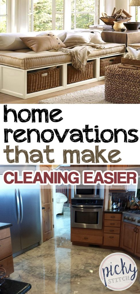 Home Renovations that Make Cleaning Easier| Home Renovations, Home Renovations DIY, Cleaning Hacks, CLeaning, Cleaning Tips, Easy Home Renovations, Home Decor DIY