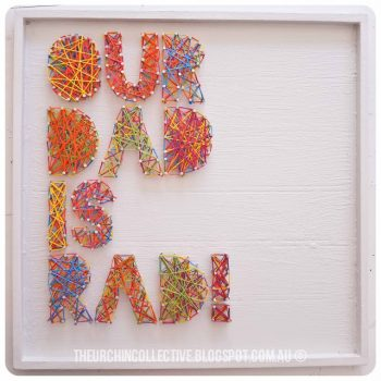 Celebrate Father's Day with one of these cute and adorable string art crafts for kids! Dads deserve some recognition and you can show them some with these string art crafts! They are fun to make and he will love them!