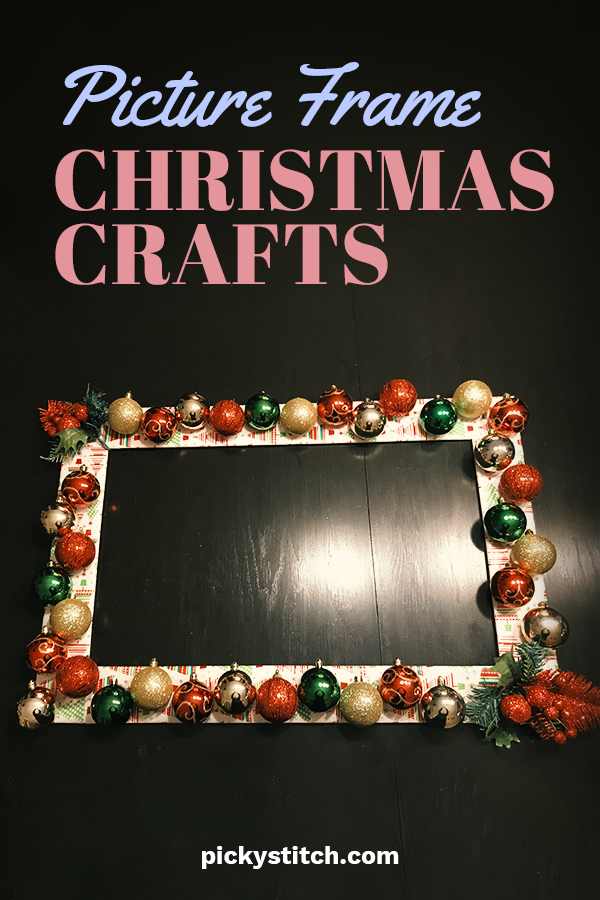 Looking for a fun and easy way to make some cute Christmas crafts. Well, you don't have to look too far. That's because Picky Stitch is going to show you how to turn an ordinary picture frame into an extraordinary Christmas craft idea. They are so easy to do and look so festive. You can design them for any home decor style. They also make excellent gifts. Picture yourself creating some awesome stuff! Keep reading for more info. #christmascrafts #pictureframecrafts