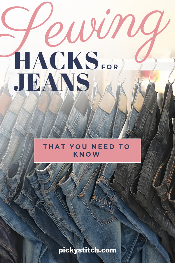 I am a big fan of jeans. But just when they seem to get comfy, they rip. Instead of throwing them away, why not try one of our easy sewing hacks for jeans. Maybe you have gained or lost weight and need to alter the waist. No worries, we've got you covered. These sewing hacks extend the life of your jeans and are really easy to do. Take a look, you will be glad you did.