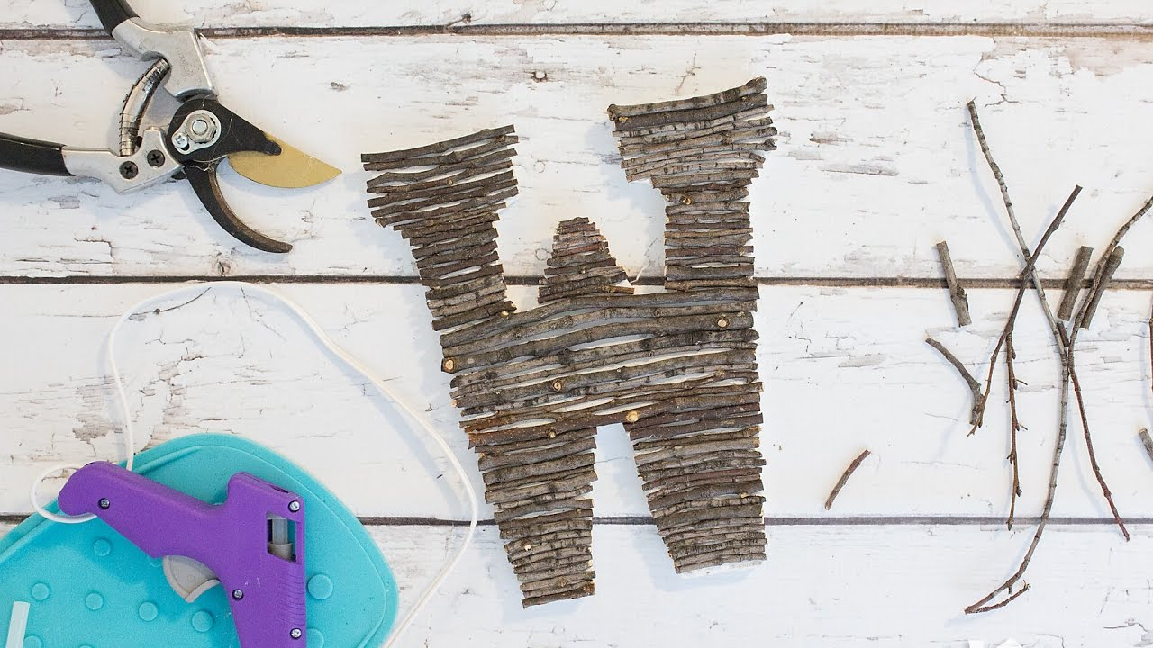 Twig letters are becoming one of the biggest trends in home decor right now. Unfortunately they can get a little pricey. Lucky for you, they are easy to DIY! Learn how here.