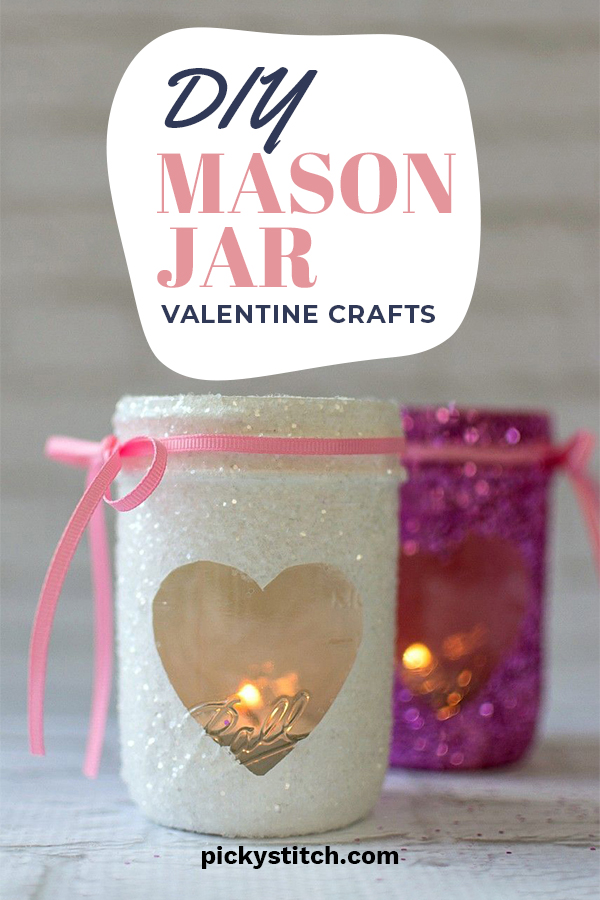 Aw, Valentine's Day. If you are a romantic at heart, and love to make your home look festive, we have some awesome craft ideas for you that will light up your home with love. All you need to do is get some mason jars, and a few other items to create these crafts that you will fall in love with. Easy to do for all ages. They look great and also make wonderful gifts. Show off your LOVE for Valentine's Day by reading on. #DIYvalentinesdaycrafts #diyholidaydecor #homedecorcrafts