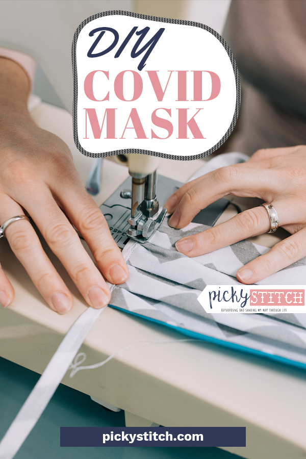 Since the White House is now recommending face coverings in public, it's the perfect time to make your own DIY Covid Mask. This sewing project is surprisingly easy and it may just save the life of someone you love the most. Check out my website for the tutorial. #pickystitchblog #covidmasks #diycovidmask #covid