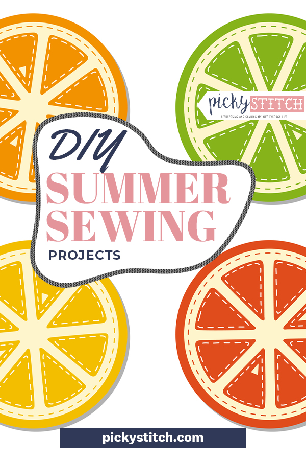 Sewing is a great way to spend your free time this summer so why not try out one of these DIY summer sewing projects? All of the projects on this list are super easy and SUPER fast, try one out today! #sewingprojects #sewinghacks #pickystitchblog