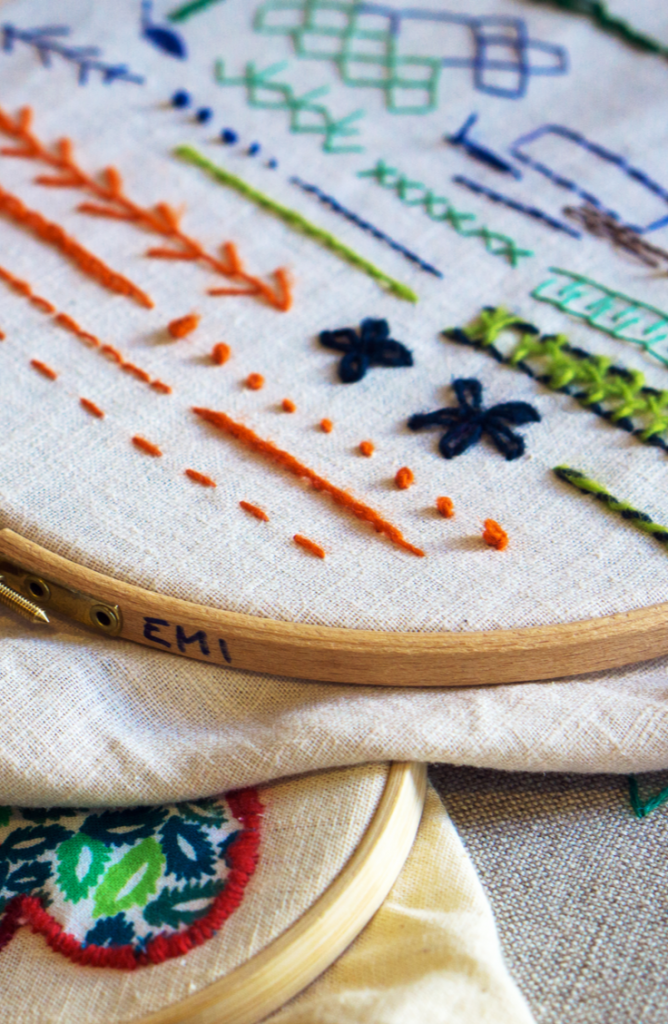 Learning embroidery stitches for beginners is a great way to pass the time while we are all adjusting to the new social distancing rules. There are so many neat things to personalize with embroidery, and these stitch tutorials will help you do exactly that.