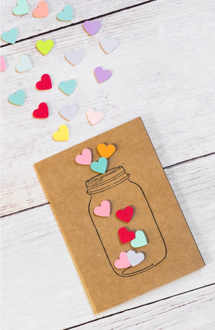It's time for awesome DIY summer mason jar ideas! Mason jars are the perfect item to use for crafts! Look how cute this paper mason jar is with hearts coming out!