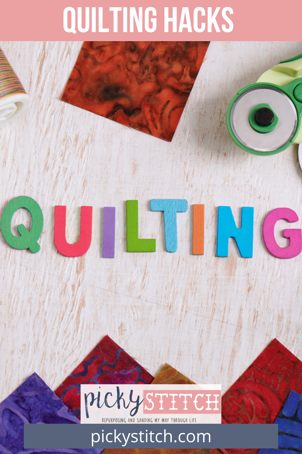 Love to quilt? Want some awesome hacks that will help streamline the quilting process? Learn from the pros the best quilting hacks that will make you even better! #quilting hacks #quiltingtips